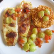 Zucchini-Paprika-Gemüse mit Mozzarella überbacken