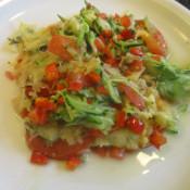 Einfacher Gemüseauflauf mit Käse überbacken