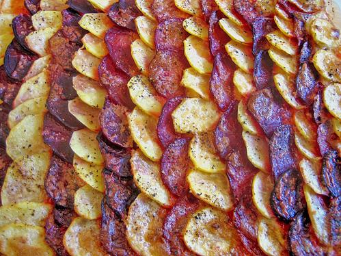 Kartoffel- und Rote-Bete-Gratin