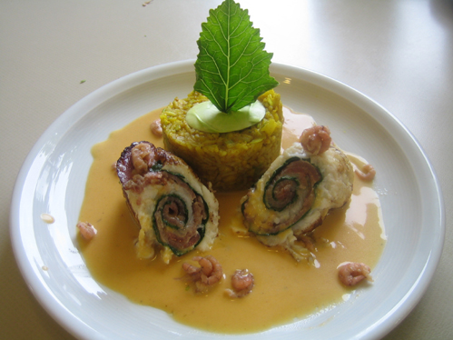 Limandes-Thunfisch-Roulade