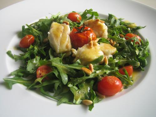 Seeteufel-Rucola-Salat