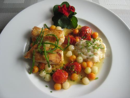 Zweierlei vom Fischmarkt mit Gemüse