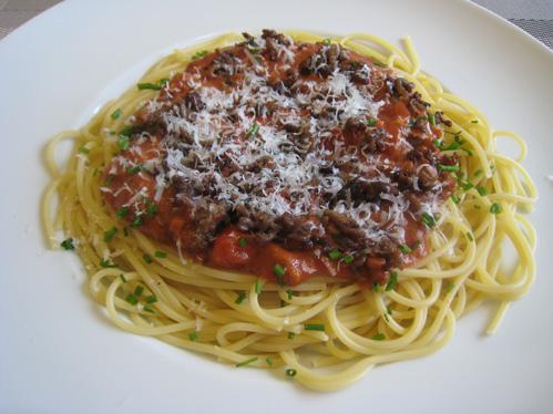 Schrats Spagetti Bolognese