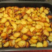 Bratkartoffeln von Pellkartoffeln aus dem Backofen